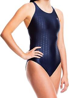 لباس شنای شتاب دهنده برای دختران - سایز 23 تا 34 لباس شنای یک تکه برای تمرین و رقابت در رنگ های سیاه ، آبی و دریایی