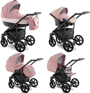 Passeggino Trio 3in1 2in1 Isofix Ovetto Compatto Baleo by SaintBaby Morning Pink Ba-Pink 2in1 Senza Ovetto