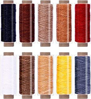 BUTUZE 550Yards Leather Sewing Waxed Thread,150D 55Yards Per Spool Stitching Thread for Leather Craft DIY,Bookbinding,Shoe Repairing,Leather Sewing