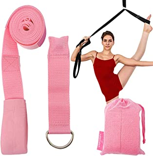 Leg Stretcher Strap, Home Stretch Strap for Flexibility, Adjustable Stretch Strap with Door Anchor to Improve Leg Stretchi...