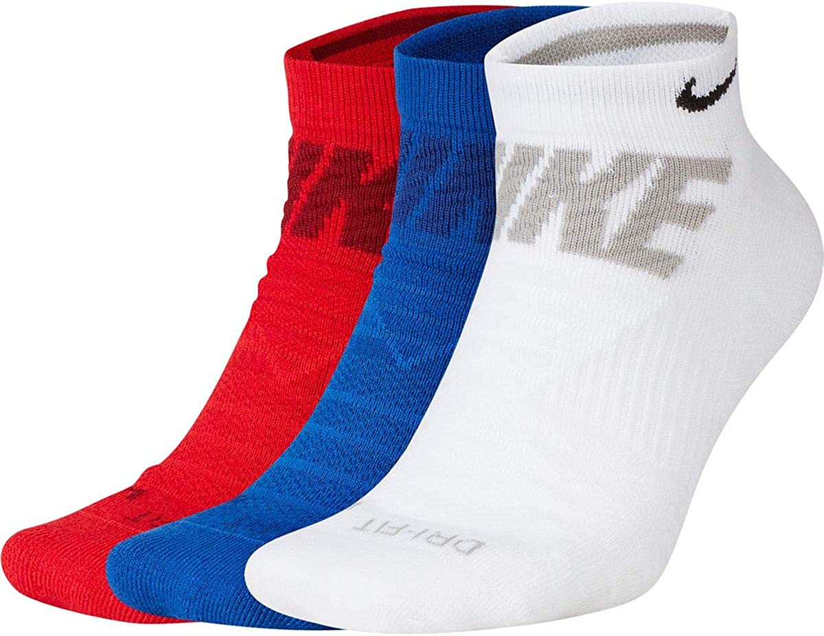 Nike Men`s Everyday Max Cushioned No Show Socks 3 Pack
