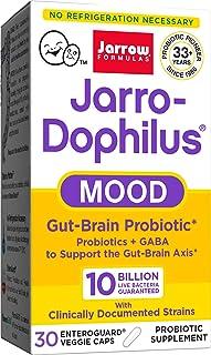 Jarrow Formulas Jarro-dophilus Mood, Digestive Gut-Brain Probiotic, 10 Billion Cells Per Veggie Cap, 30 Count