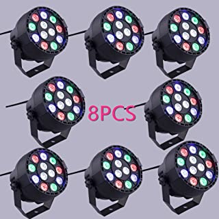 XPC Led Par uplighting Par Wall Wash Wedding DJ Up Light RGBW Color Mixing Can Lamp for KTV Bar Pub Dance (8PCS)