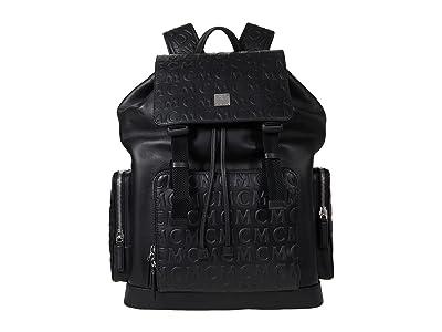 MCM Brandenburg Monogram Leather Backpack Large