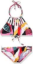 Billabong Girls' Big Dream Time High Neck Two Piece Bikini Set, Multi, 4