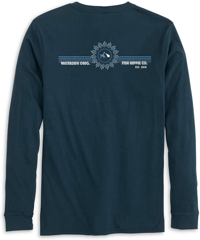 Fish Hippie 信用 Early Shift Sleeve Long 国内正規品 T-Shirt Navy