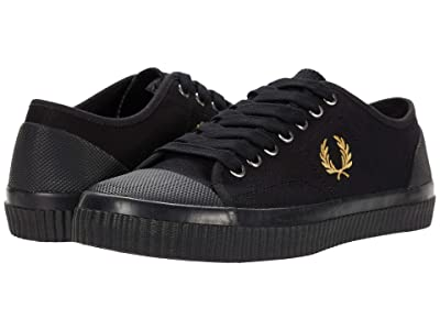 Fred Perry Hughes Low Canvas (Black/Champagne) Men