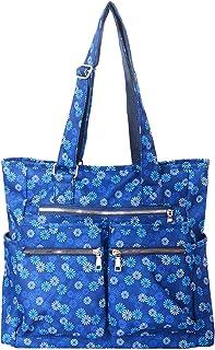 Women Canvas Tote Bag Waterproof Nylon Multi Pocket Shoulder Bags Work Bag Teacher Purse and Handbags
