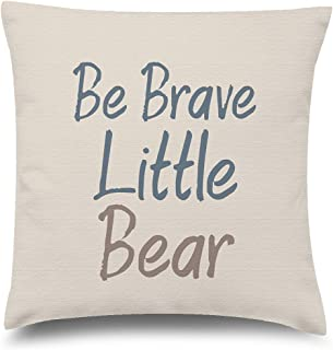 Funny Ugly Christmas Sweater Kids Decorative Pillow Covers Be Brave Little Bear Throw Cushion Case 12