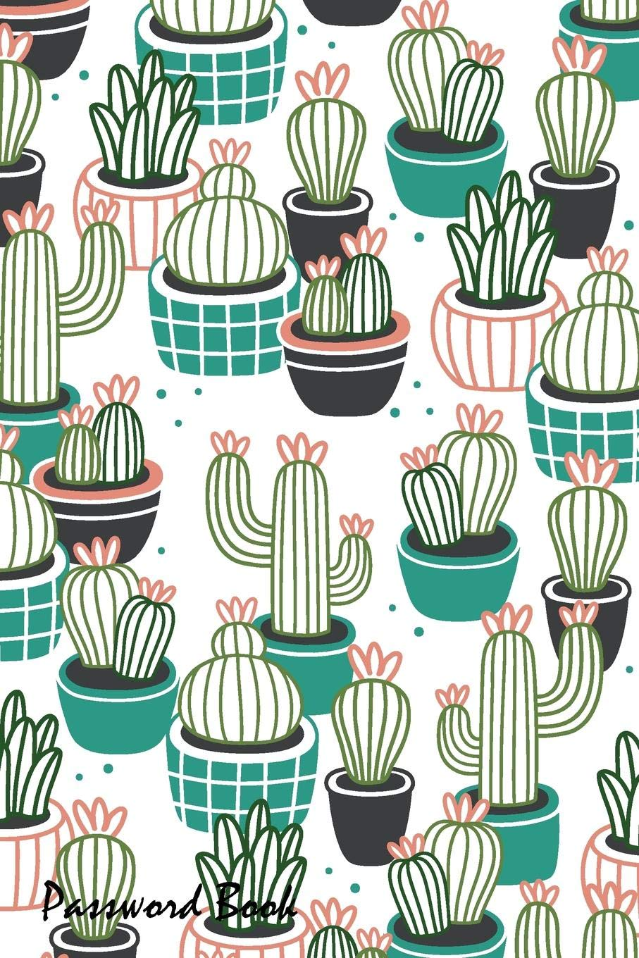 Image OfPassword Book: Include Alphabetical Index With Cactus Pots Seamless Pattern
