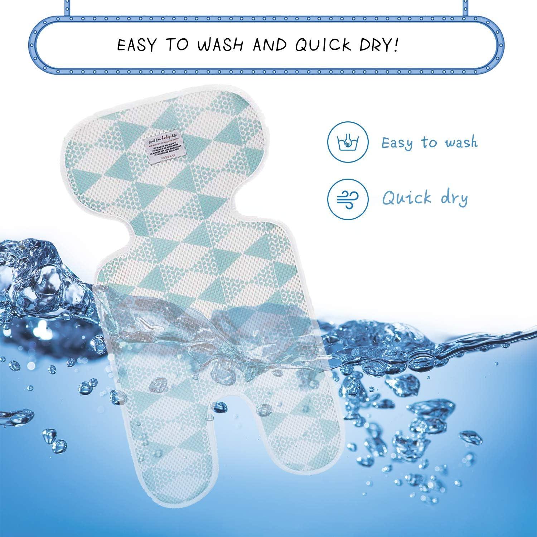 lavabile in lavatrice Copriseduta Passeggino antimacchia Copri Seggiolino Auto Universale Copripasseggino Universale Materassino Passeggino Traspirante mesh blue