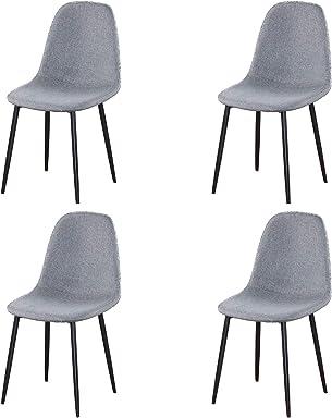5 Pezzi 80 x 80 x 75 cm caff/è Yjx-BK Tempo Libero GroBKau Tavolo da Pranzo con 4 sedie Moderno Bianco Rotondo Tavolo per Cucina Sala da Pranzo
