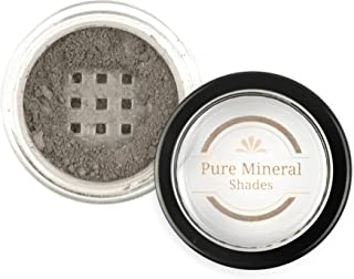 Mineral Eyebrow Powder by NuBeauti - Natural Brow Makeup Kit with Angled Contour Brush for Precision Sculpting to Color Eyebrows Precisely for Beautiful Perfect Professional Brows (Light Charcoal)