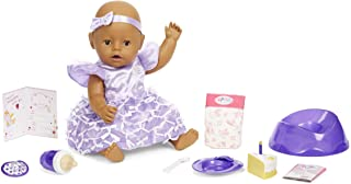Baby Born Interactive Baby Doll Party Theme – Brown Eyes with 9 Ways to Nurture