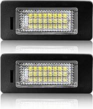 Matr/ícula LED Luz de D/ía 24 SMD Para Audi A4 A5 S5 Q5 Tt 2008-2013 Blanco