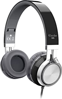Elecder i39 Headphones with Microphone Foldable Lightweight Adjustable On Ear Headsets with 3.5mm Jack for Cellphones Comp...