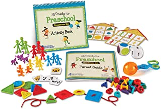 Learning Resources All Ready for Preschool Readiness Kit, Homeschool, Counting & Fine Motor Skills Toy, Ages 3+,Multi-colo...