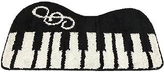 rubitas ピアノ マット バス 玄関 浴室 室内 屋外 風呂 台所 トイレ オシャレ インテリア (黒)
