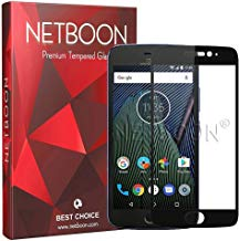 NETBOON Full Coverage Curved Edge Clear Transparency Screen Guard for Motorola Moto E4 Plus – Black