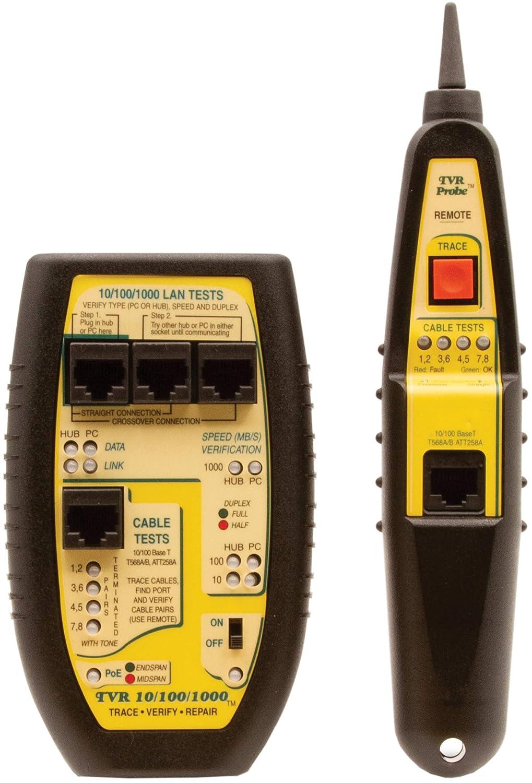 Long-awaited Triplett online shop TVR10 100 1000 Byte Brothers RJ45 CAT5 Tester Cable LAN