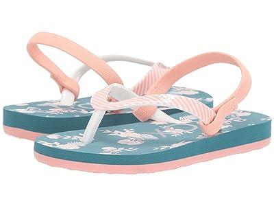 Roxy Kids Pebbles VI (Toddler) (Grey/Blue) Girls Shoes