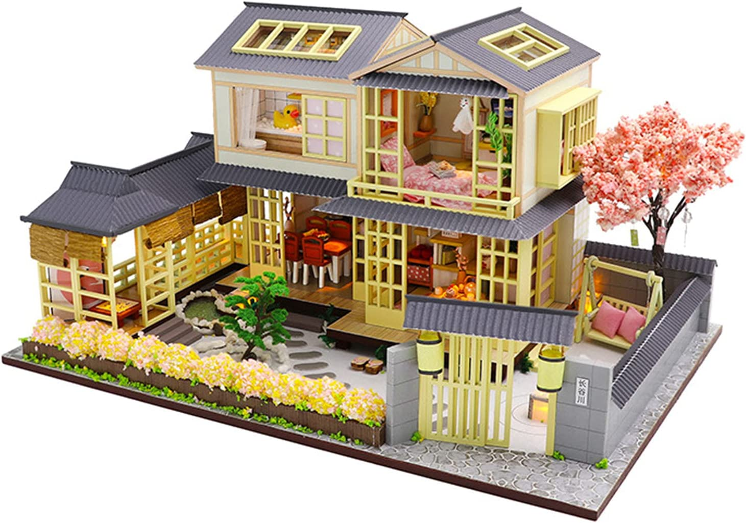 YXLYLL free shipping Handmade Max 67% OFF Japanese-Style and Wind Model Bir Villa Creative