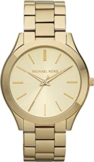 Michael Kors Slim Runway Watch for Women - Analog Stainless Steel Band - MK3179