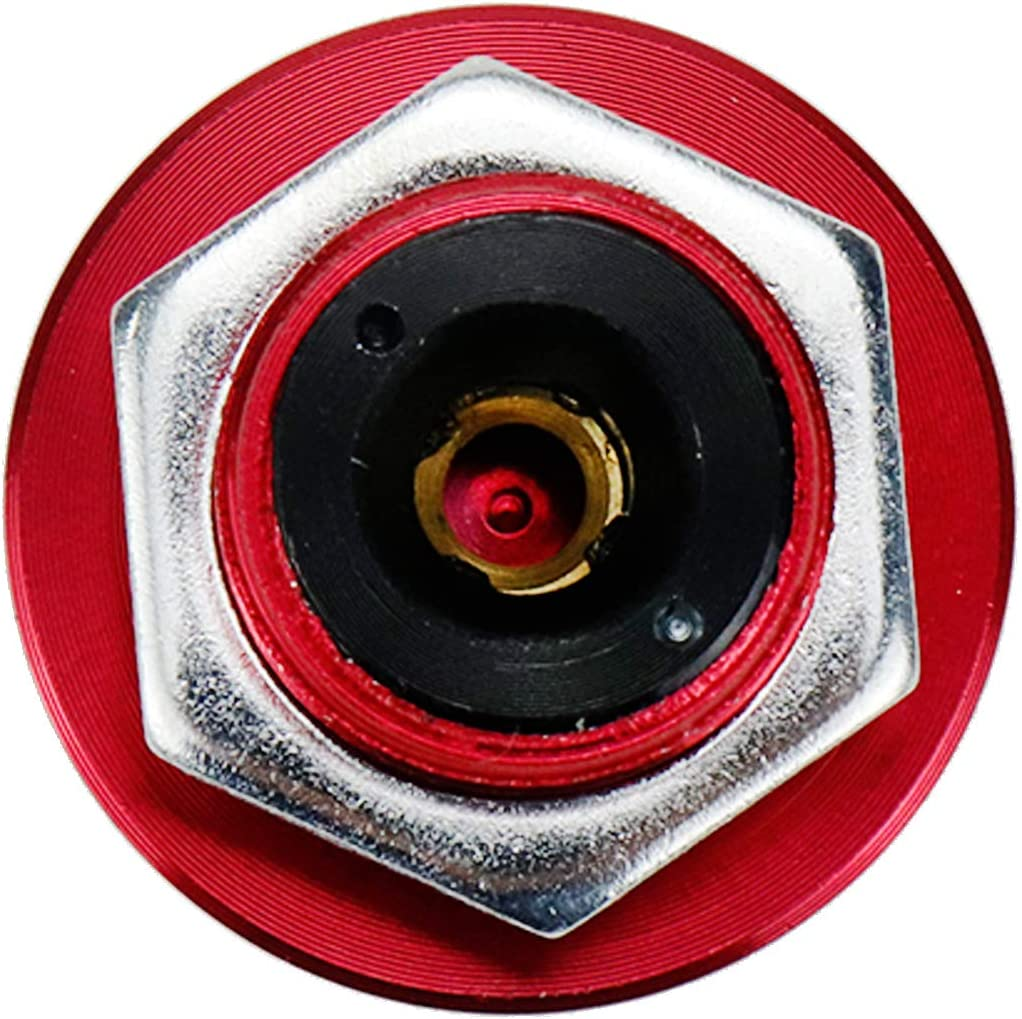 Yohii Quick Latch Bumper 1.26 Dia 4-inch Pin Length Quick Release Latch Universal Push Button for Hood Bumper or DIY Red