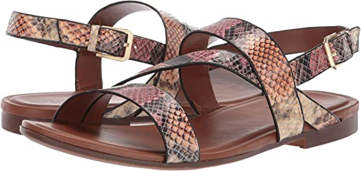 Mauve Multi Snake Print Leather