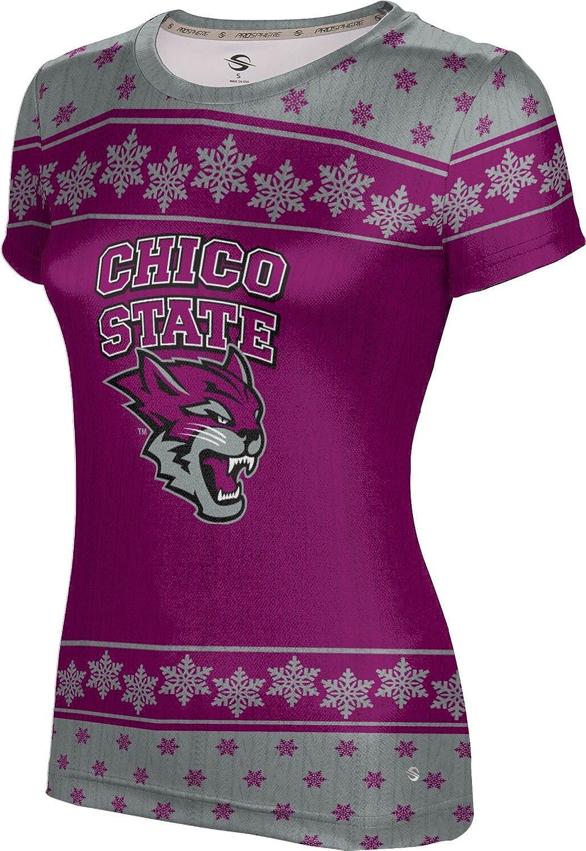 California State University Chico Ugly Holiday Girls' Performance T-Shirt (Snowflake)