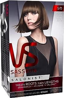 Vidal Sassoon Salonist Permanent Hair Color Kit, 5/0 Medium Neutral Brown (1 Application) (Packaging May Vary)