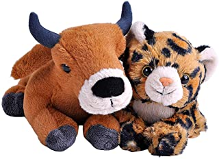 Wild Republic Unlikely Friendships Plush Leopard and a Cow, Based on a True Story, Gift for Kids, Plush Toys
