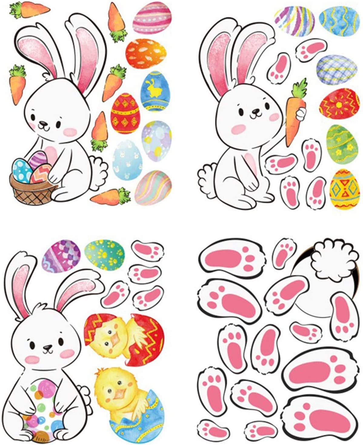 Happy Cheap mail order sales Easter Sticker W Self-Adhesive Party specialty shop