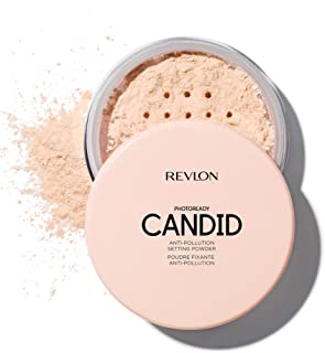Revlon PhotoReady Candid Setting Powder, with Anti-Pollution, Antioxidant Ingredients, without Parabens, Pthalates and Fragrances, Shade Light, 0.5 Ounce