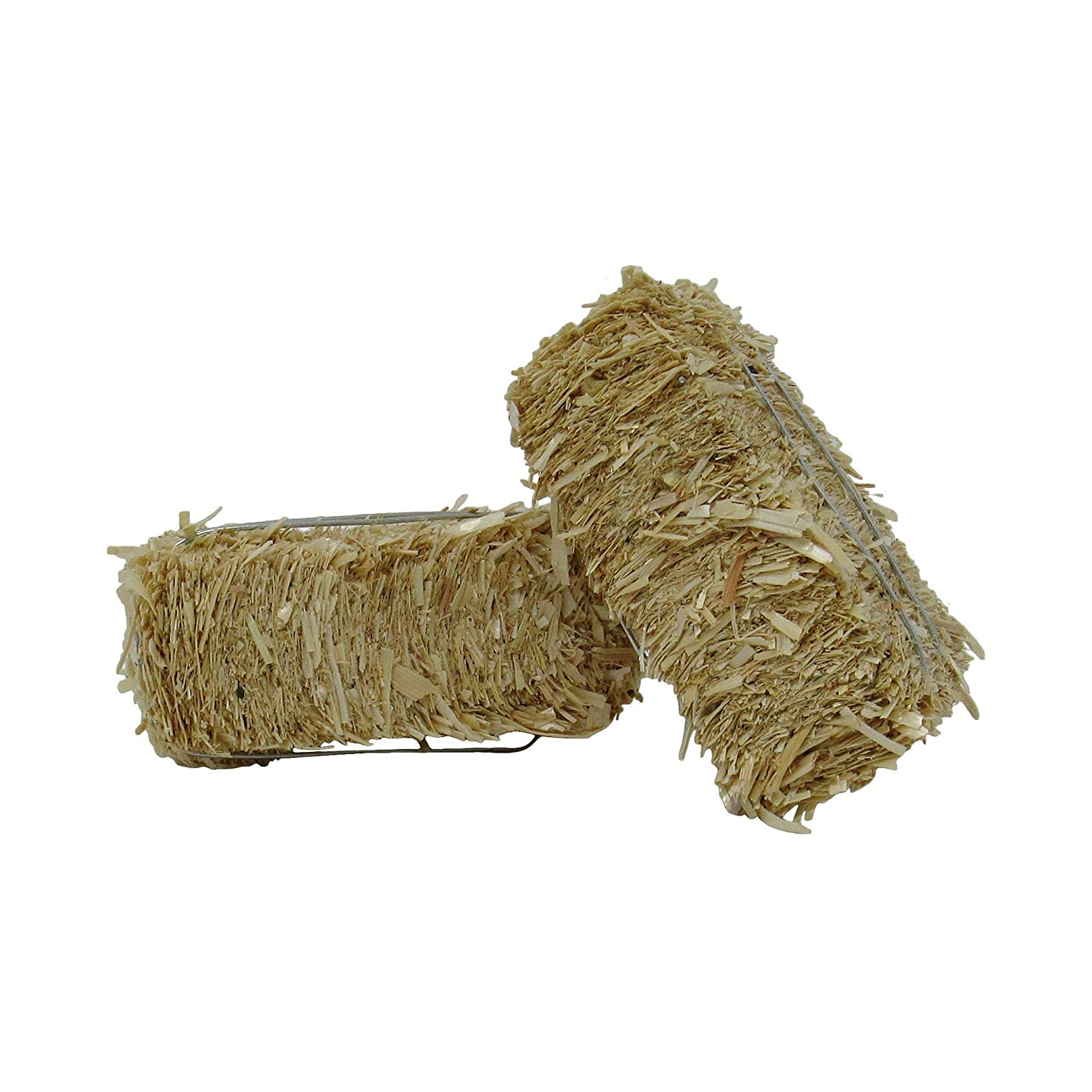 Package of 2 Ultra Mini Hay Bales Made of Real Dried Straw for Crafting, Embellishing and Creating