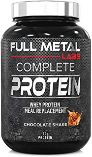 Full Metal Labs Complete Protein Chocolate - All-in-one whey Protein Matrix with Real Whole Foods - Animal and Plant Prote...