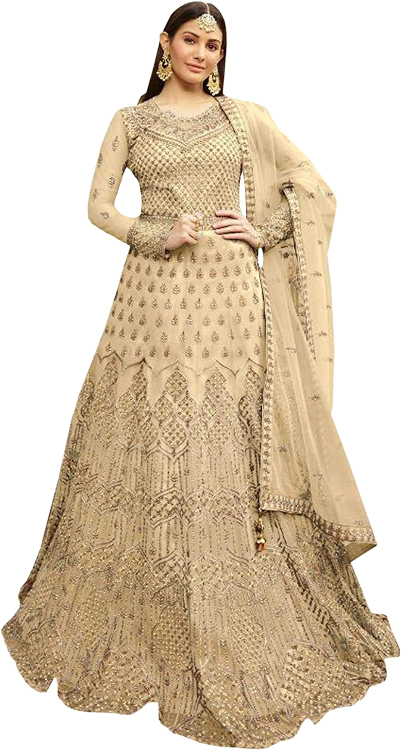 Embroidery Work Traditional Wear Pakistani Outfits Stitched Full Length Anarkali Gown Suits