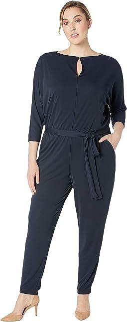 Plus Size Jersey Keyhole Jumpsuit