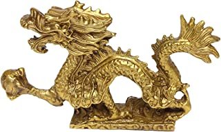 Chinese Fenghsui Dragon Magical and Noble Copper Dragon Sculpture Figurine Home Decoration