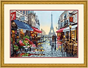 Dimensions Paris Flower Shop Paint by Numbers for Adults, 20'' W x 14'' L, Multi