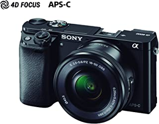 Sony ILCE-6000L Cámara Alpha Mirrorless con Montura E APS-C CMOS con 24.3mp, Incluye lente SELP16-50mm