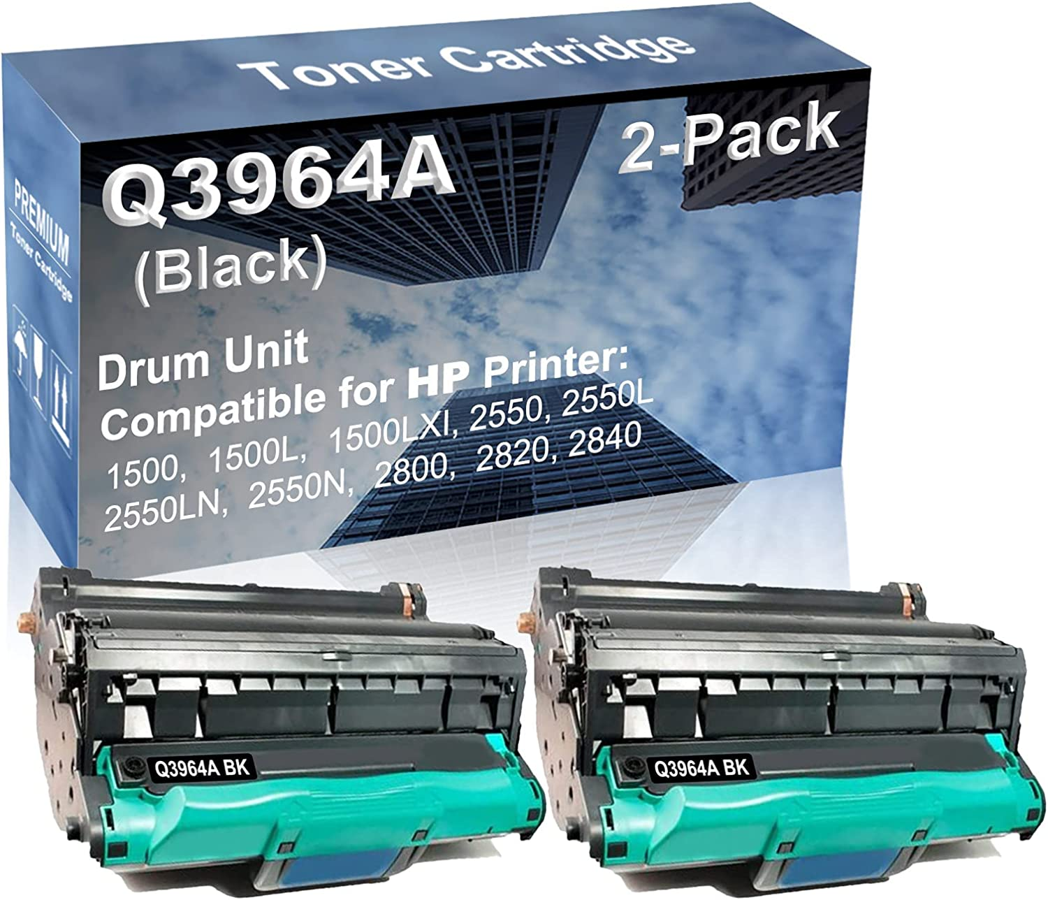 2-Pack Compatible Drum Unit Black latest Q3964A Dr HP for Free shipping Replacement