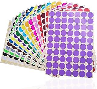 "2800 pcs 3/4"" Round Coding Circle Dot Labels, SourceTon 20 Colors Neon Color Coding Dots Round Stickers"