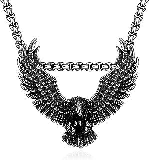 Kette Halskette Geburtstagsgeschenk Herrenschmuck Adler Falke Unisex Neu