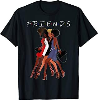 Natural Hair Black Queen Friend T-Shirt For Black Girl