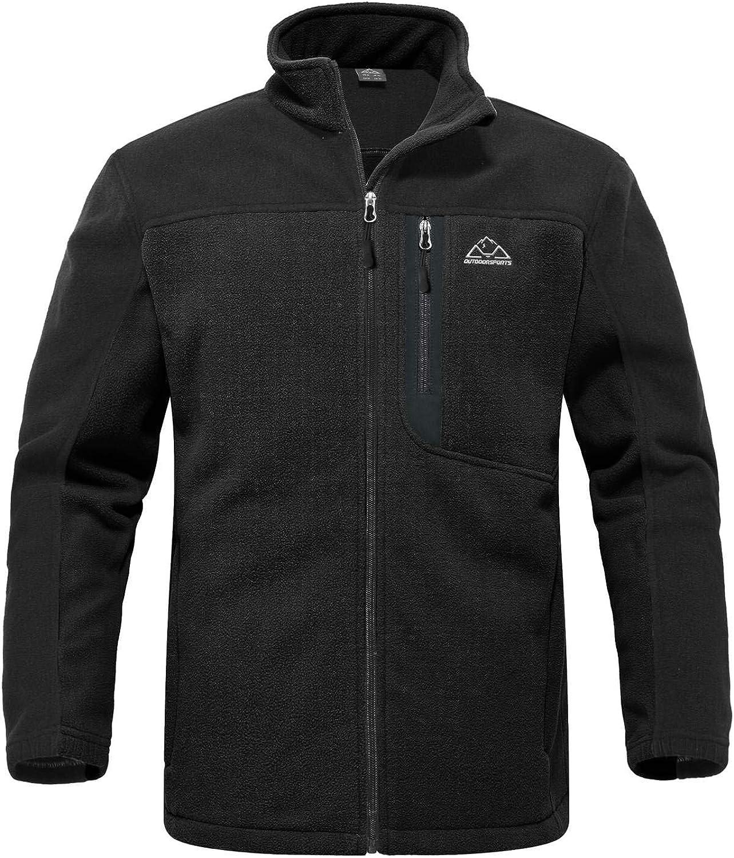 Rdruko Men's Softshell Jacket Fleece Windproof Lightweight Outdoor Jackets Full Zip Hiking Work Outwear