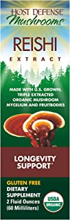 Host Defense - Reishi Mushroom Extract, Naturally Supports a Healthy Heart and Cardiovascular System, Energy, Stamina, and Stress Response, Non-GMO, Vegan, Organic, 60 Servings (2 Ounces)