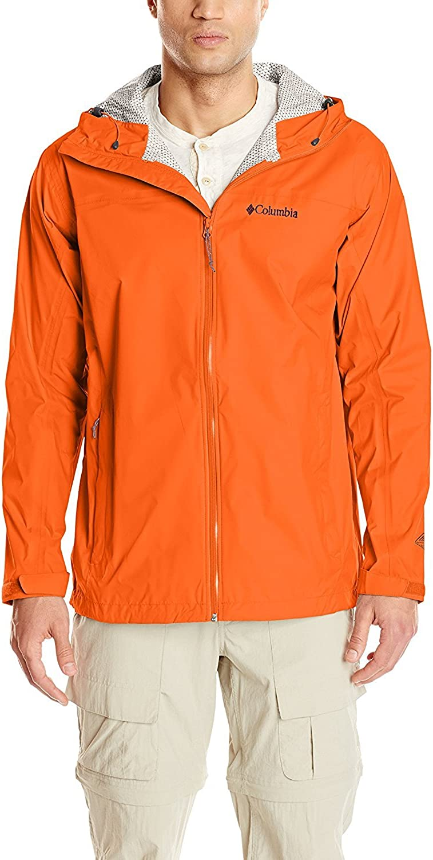 Columbia Sportswear Men's Big and Tall Evaporation Jacket, Tangy Orange, XLT