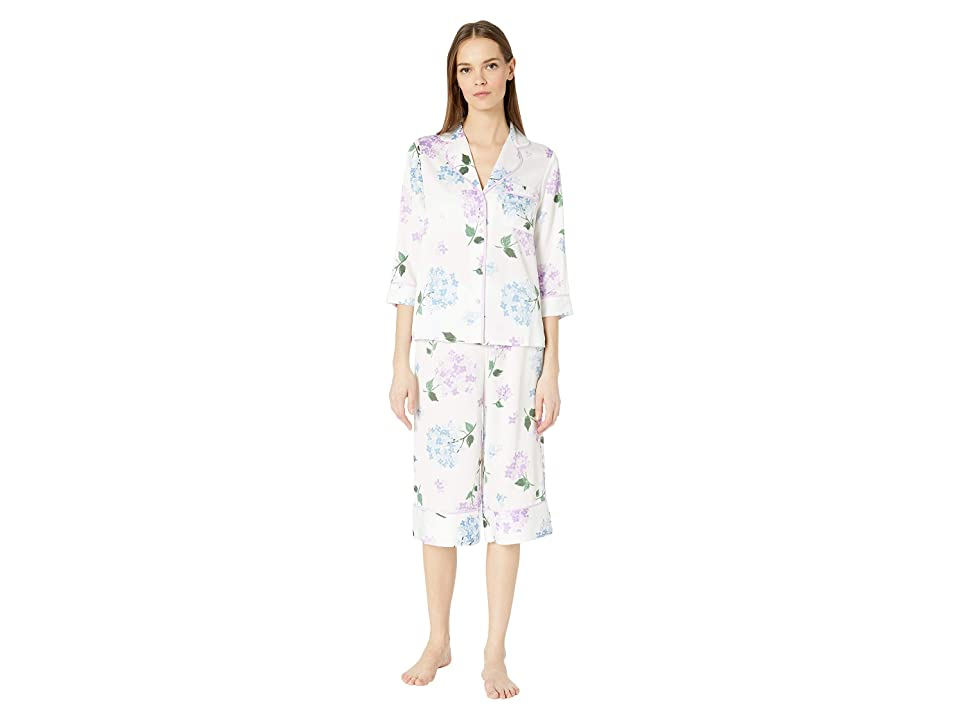 Kate Spade New York Charmeuse Cropped Pajama Set (Hydrangea) Women