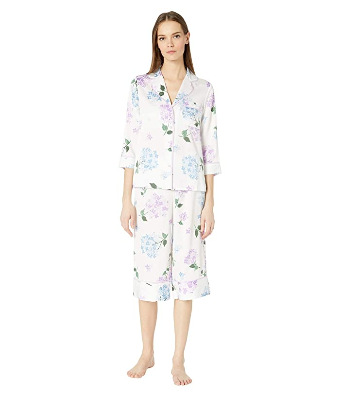 Kate Spade New York Charmeuse Cropped Pajama Set (Hydrangea) Women